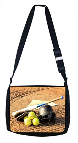 Softball Gear Lea Elliot TM Laptop Messenger Bag and Small Accessory Case SET by Lea Elliot