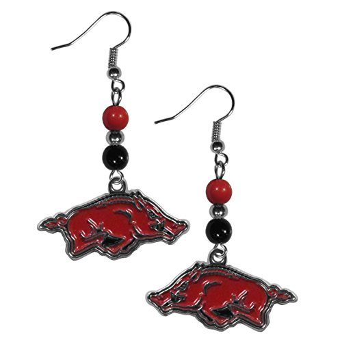 Siskiyou NCAA Arkansas Razorbacks Fan Bead Dangle Earrings