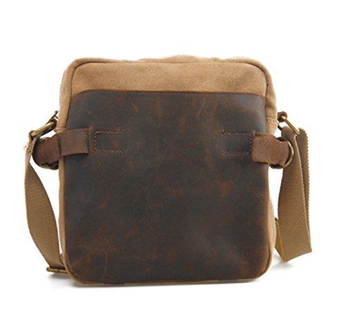 FAIRY COUPLE Estilo Retro Vintage unisex del bolso de hombro del bolso 22x25x7cm C5092 (2 caqui) 2 caqui