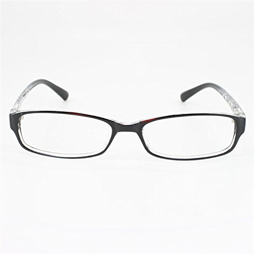 EyeBuyExpress Rectangle Black Reading Glasses Magnification Strength - Glasses Express Womens Vision