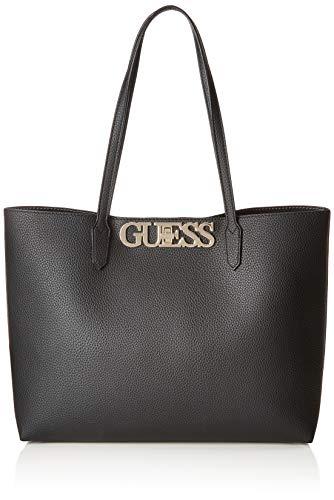 GUESS Uptown Chic Barcelona Tote, Black (Barcelona Handbag)