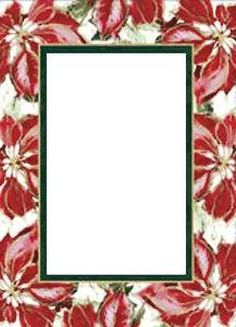 poinsettia photo insert christmas cards sold in 20s 4x6 - 4x6 Photo Insert Christmas Cards