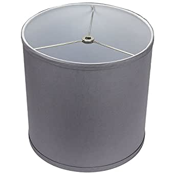 "FenchelShades.com 10"" Top Diameter x 10"" Bottom Diameter 10"" Height Cylinder Drum Lampshade Liner USA Made (Medium Gray)"