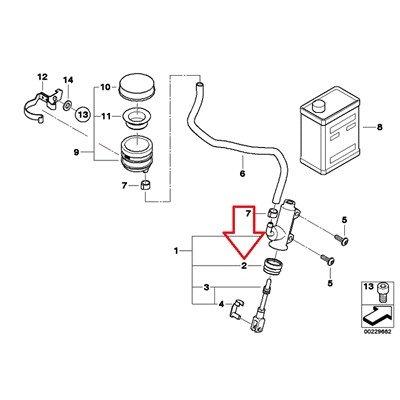 BMW Genuine Rear Brake Master Cylinder Integral ABS 2 Rubber Boot R1200C R1200C Independent K1200RS F650CS R1200RT R900RT K1200S K1300S K1200GT K1200RS K1200R Sport K1300R K1200GT K1300GT K1600GT (Master Boot Rear Cylinder)
