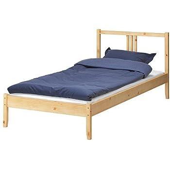 Amazon.com - Ikea Twin Bed Frame Solid Wood with Headboard - Single ...