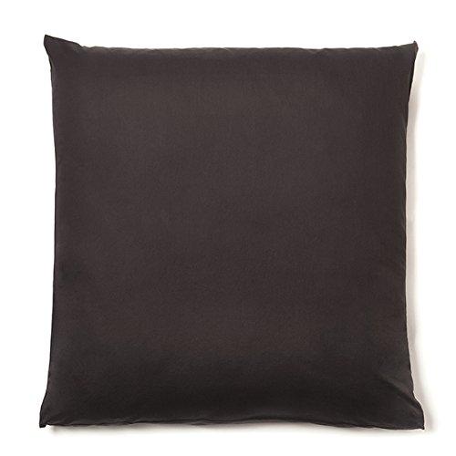 Biederlack Blue Blanket - NATUREHOME Organic pillow casa cushion cover VIVO nobel satin espresso brown 80x80 cm