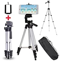 Padraig Tripod Stedy 450 with 4.5 Feet Pan Head and Extra Quick Release Plate, Foam Grip and Carry Case