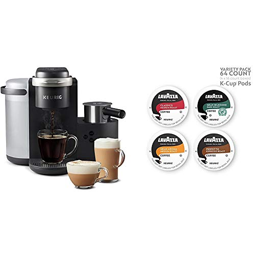 Keurig K-Cafe Single Serve K-Cup Pod Coffee, Latte and Cappuccino, K-Café & Lavazza Variety Pack, 64 count