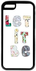 Floral Letters Let It Be Theme Iphone 6 plus (5.5) Case