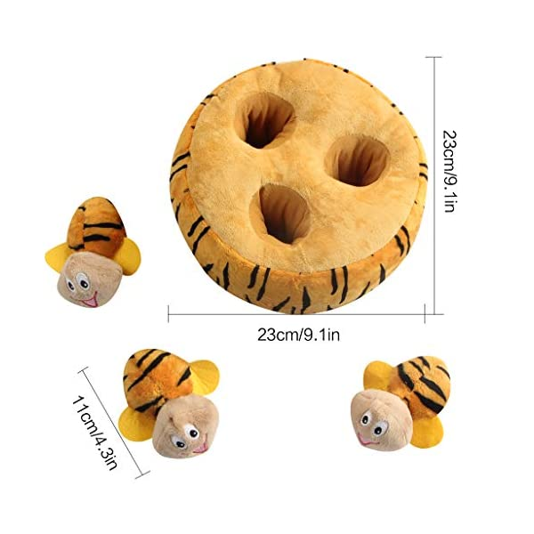 IFOYO Squeaky Dog Toys, Durable Hide and Seek Puzzle Plush Interactive Dog Toys for Medium/Small Dogs, Pets 2