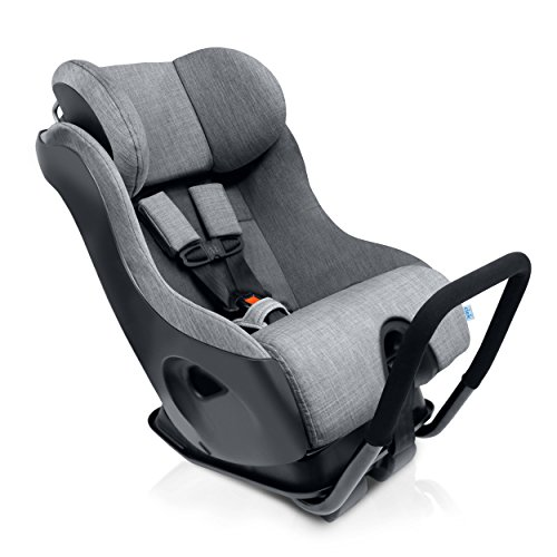 Clek Fllo Convertible Baby and Toddler Car Seat Rear and Forward Facing with Anti Rebound Bar, Thunder 2018