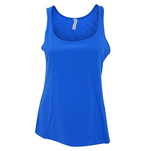 Bella Canvas- Camiseta de tirantes ancha para mujer Gris oscuro jaspeado