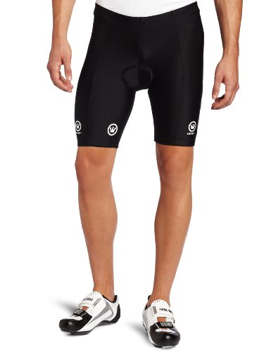 Canari Cyclewear Men's Velo Padded Cycling Short (Black, Large) (Wildflower Glove Body)