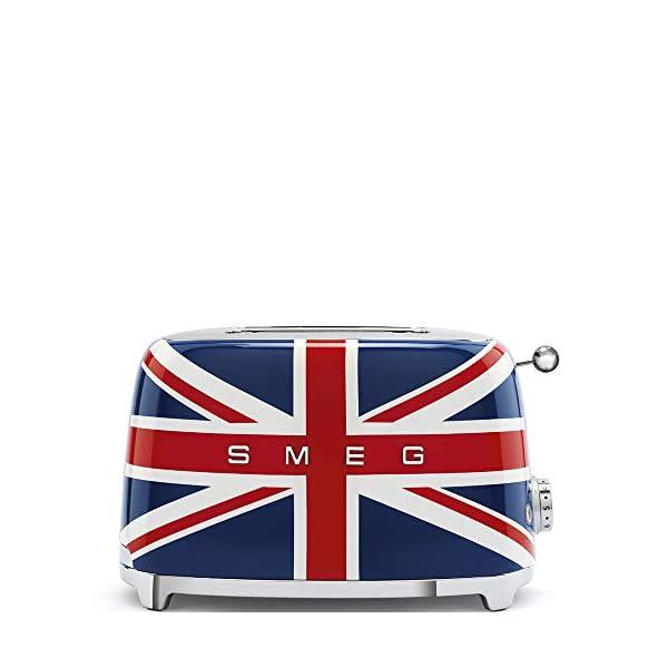 Smeg 1950's Retro Style Aesthetic 2 Slice Toaster, Union Jack Design (British Flag) 1
