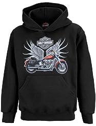 9188029a83df Harley-Davidson Boys Bike Wings with Willie G Skull Back Hoodie ...