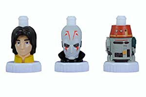 good2grow sports cap bottle toppers 3-pack, Ezra, Iquisitor & Chopper