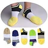 SUSocks Mens Socks No Show Liner (5 Pairs) Crew Socks Best Cotton Breathable