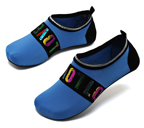 adituo Sports Loveblue Socks Beach Aqua Men and Exercise Water Shoes Swim Pool for Barefoot Women rqn56rw