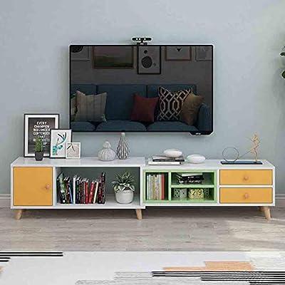 SXFYZCY Muebles de Sala Mueble de televisión Gabinete de TV Estirable con diseño de cajón Gabinete de TV telescópico para la decoración de la Sala Mueble de TV: Amazon.es: Hogar