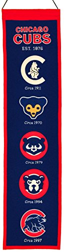 Chicago Cubs Wool 8''x32'' Heritage Banner