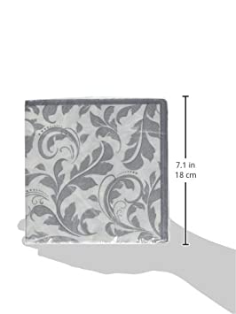 Wedding and Engagement Party TradeMart Inc 192 Ct 513850 Silver Wedding Lunch Napkins