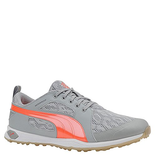 (PUMA Biofly Mesh Golf Shoes 2016 Ladies, Light Grey/Peach, 10 M US)
