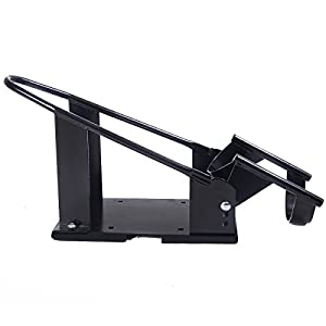 Goplus Motorcycle Wheel Chock Cradle Scooter Bike Stand Lift Mount Trailer (Black)