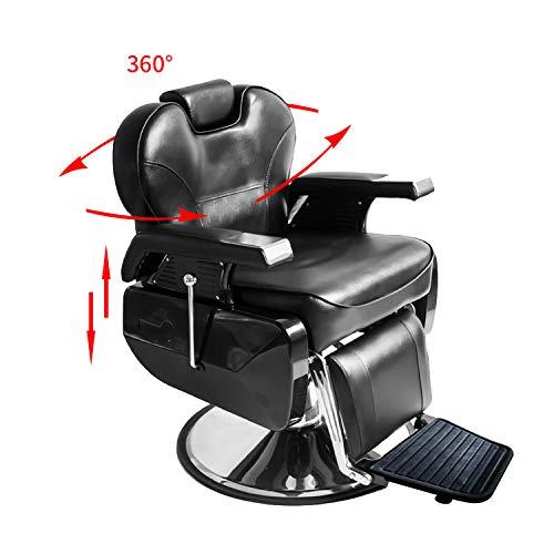 All Purpose Hydraulic Recline Barber Chair,Salon Hair Styling Beauty Shampoo Spa (Recline Shampoo Chair)