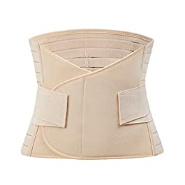 jemous Postpartum Belly Wrap Waist Shapewear Belt Waist Trimmer Belt Pelvis Band Postpartum Belly Wrap Trainer Postnatal Recovery Girdle for Postpartum Support and Weight Slimming Tummy Trimer Band