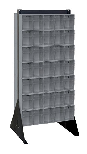 Quantum Storage Systems QFS248-305GY Clear Tip Out Bin Fl...