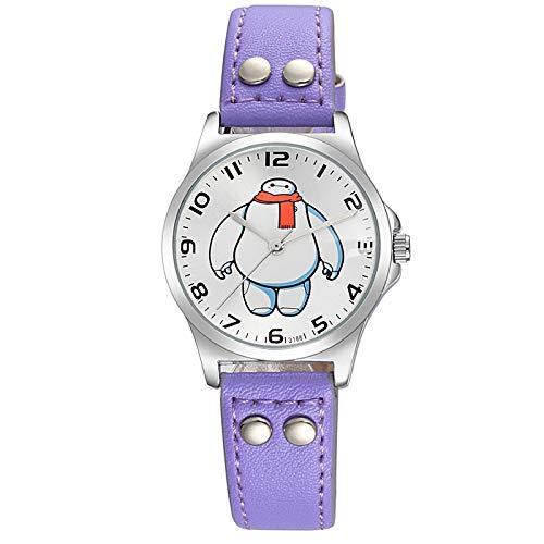 SJXIN Reloj Elegante Reloj Digital de Cuarzo Mediano de Moda Digital con Personajes de Dibujos Animados