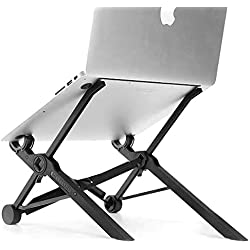 Portable Laptop Stand Adjustable Lever Ergonomic Height 5.5 Inches -12.6 Inches Light Weight Anti-Slip Holder Workstation Riser for DJ PC Gaming Home or Office