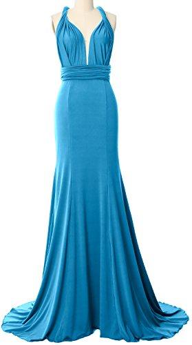 Formal Way Wrap Multi Maxi Gown Bridesmaid Dress MACloth Evening Convertible Horizon TU18w8xq