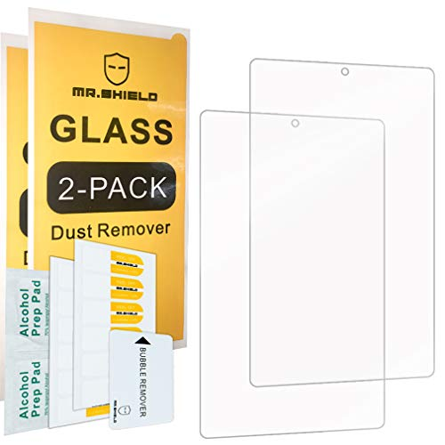 [2-Pack]-Mr.Shield for Alcatel 3T 8 8 Inch [Tempered Glass] Screen Protector [0.3mm Ultra Thin 9H Hardness 2.5D Round Edge] with Lifetime Replacement