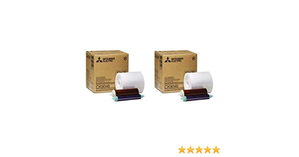 "600 Prints Mitsubishi 4x6/"" Paper Roll and Inksheet for CP-9550DW #CK-9046"