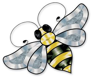 Colored Bumble Bee Bevel Cluster