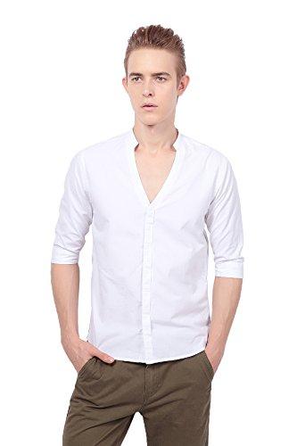 Uomo Camicie Casuale Rf Camicie Bianche Mezzo Vestito Cotone 19 Pau1hami1ton Da Di ITIw6Sq