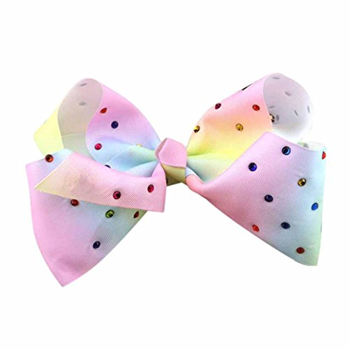 Hunpta Mädchen Haar Bogen Grosgrain Ribbon Boutique Knot Dance Glips Zubehör Multicolor