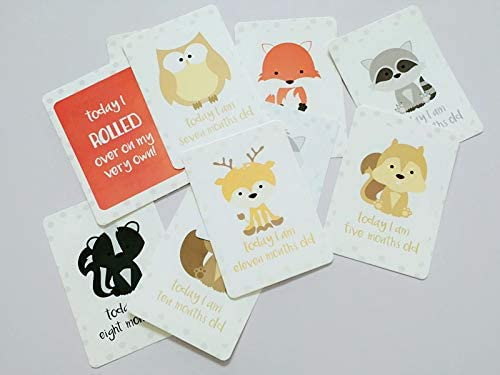 24pcs Unisex Babys Important Milestones Record Cards Abnaok Baby Milestone Cards Great Baby Shower Gift