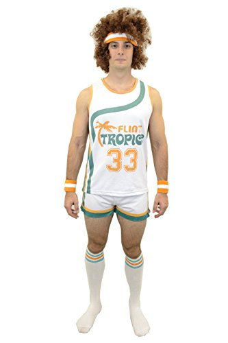 Semi-pro Jackie Moon Official Halloween Party Costume Shirt Pants Wig Socks Wristbands -