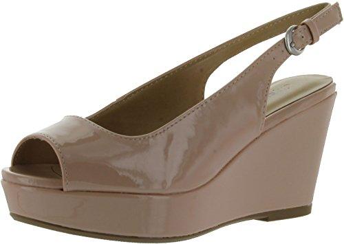 Stad Klassificeras Womens Alina Mode Sandaler, Naken Patent Pu, 7