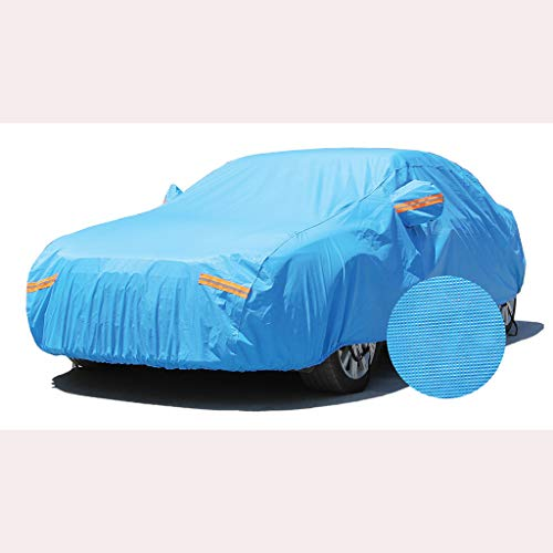 GYP Car Sunscreen Clothing, Car Cover Rainproof Aluminum Film Cotton Wool Padded Coat,Blue
