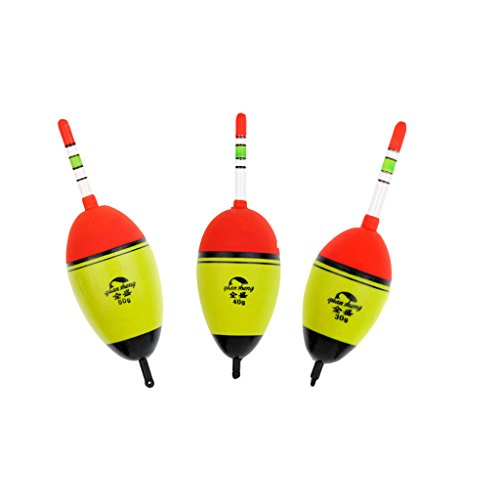 Jili Online 3Pcs Fishing Float Light Stick Night Foam Float Floating Tube Buoy ()