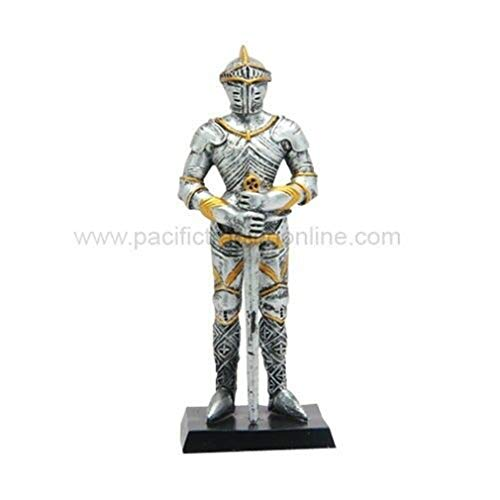- YesKela 4 Inch Standing Medieval Knight with Sword Resin Statue Figurine