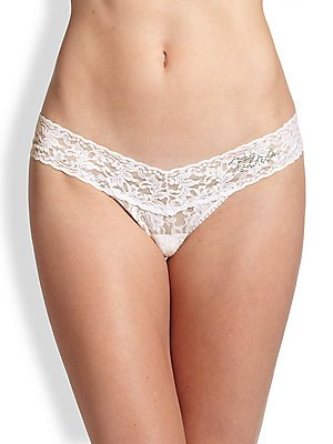 - Hanky Panky (Mrs.) Low Rise Thong - Signature Lace, Ivory, One Size