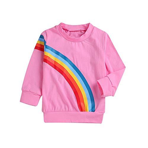 Littay Mommy&Me Children Kids Long Sleeves Rainbow Sweatshirt Top Family Clothes Women Mom ()