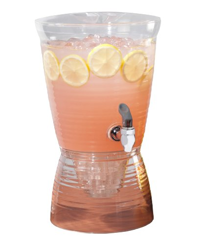 CreativeWare - Dispensador de bebidas, Transparente, 1.5-Gallon, 1