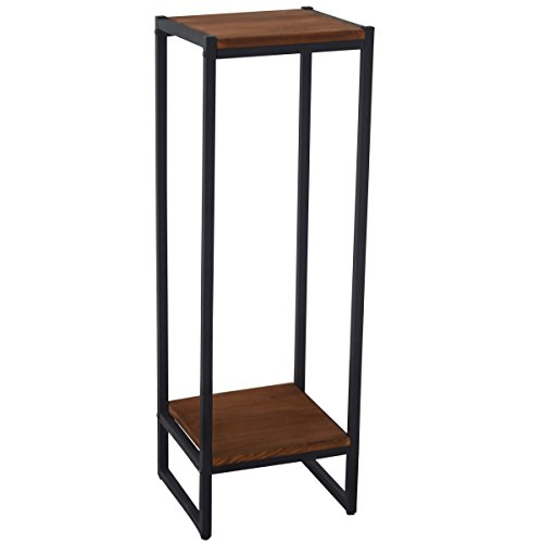 Iron & Wood Dismountable Plant Stand Wood Shelf Display Shelf IRWS1629h (Stand Tall Plant)