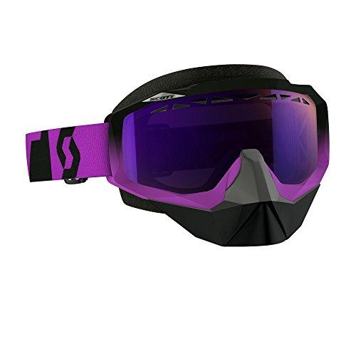 Scott Hustle Oxide Men's Snocross Snowmobile Goggles Eyewear - Purple/Black/Purple Chrome /One Size