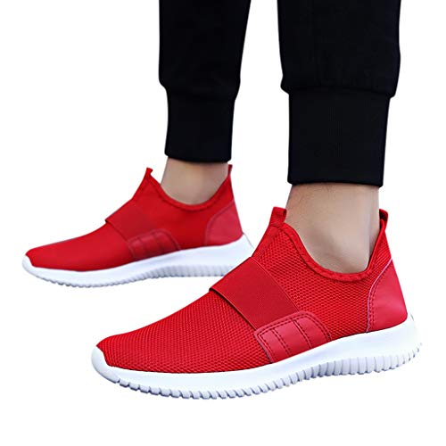 HYIRI 2019 Outdoor for Adult Men Jogging Walking Sport Sport Shoes Lightweight Running Shoe Sneakers Red (Best Suspension Trainers 2019)